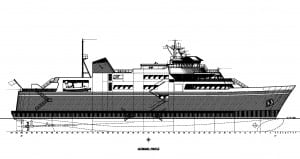 A drawing of the Alaska Class Shuttle Ferry by Elliot Bay Design. A new report estimates building two will cost $112.2 million. They will sail Lynn Canal.