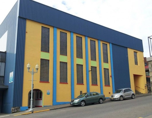 The recently painted Ketchikan Performing Arts Center building on Main Street. (Used with permission from PAC.)