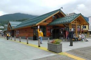 The Ketchikan Visitors Bureau building is seen during last summer's tourist season.