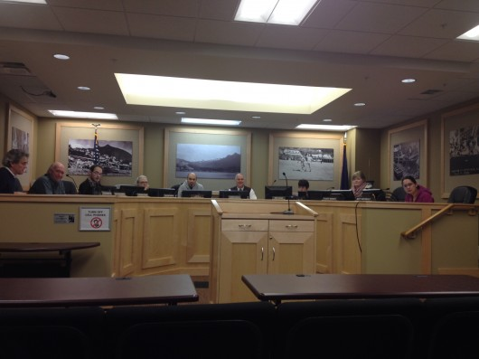 The School Board at a recent meeting.