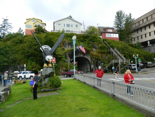 This picture from last summer shows the south end of Ketchikan's downtown tunnel.