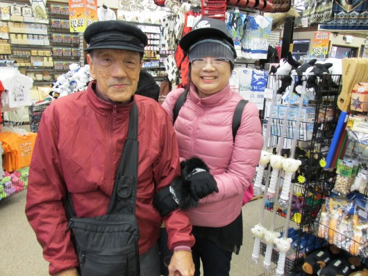 Two tourists from Singapore, who were visiting Ketchikan for the second time.