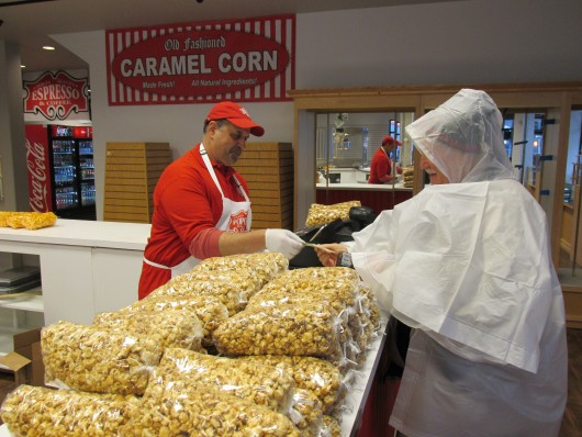Yukon Popcorn Emporium opened for the season Monday, in time for the first mega cruise ship.