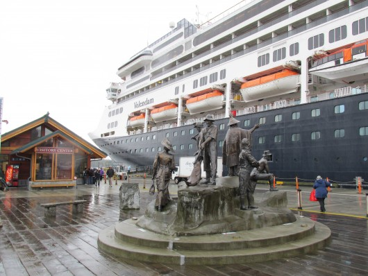 The Volendam cruise ship docked in Ketchikan Monday.