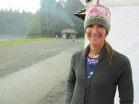 Molly Barker founded Girls on the Run in North Carolina. She was in Ketchikan for the final race.