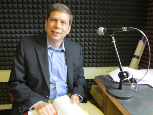 US Senator Mark Begich in KRBD's studios.