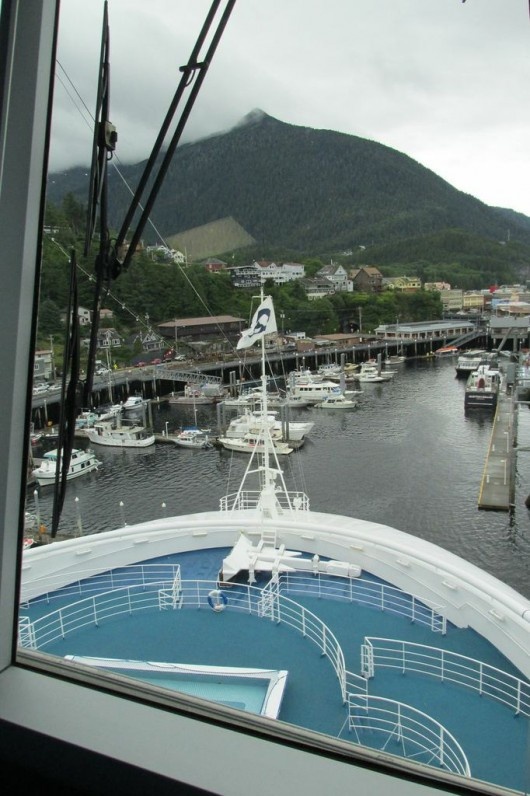 View of Ketchikan from the bridge of the Crown Princess.