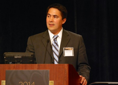 New Sealaska CEO Anthony Mallott addresses shareholders June 28 at the regional Native corporation's annual meeting near the SeaTac Airport. (Photo Courtesy Sealaska)