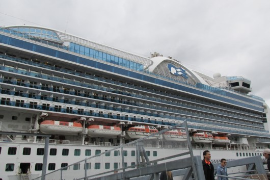 The Crown Princess is celebrating its first summer sailing in Alaska.
