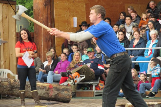 The Great Alaskan Lumberjack show held its Ironjack competition. Tom Lancaster (not pictured) was the champion.
