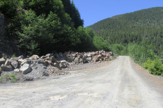 The access road leading to property under development off the Third Avenue Bypass.