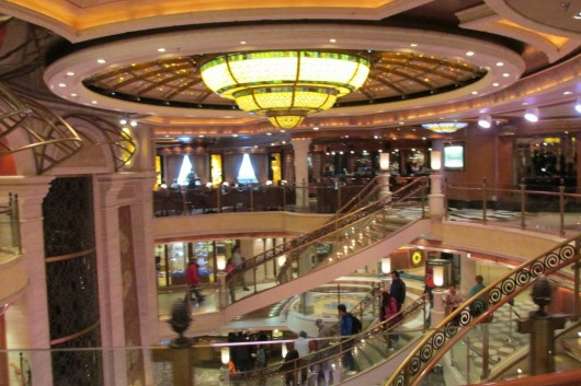The inside of the Crown Princess.