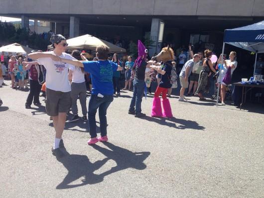 ArtsCool camp members held a dance flash mob.