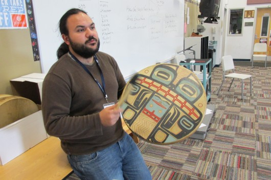 Ed Littlefield taught Tlingit culture and music, including drumming, at the Institute.