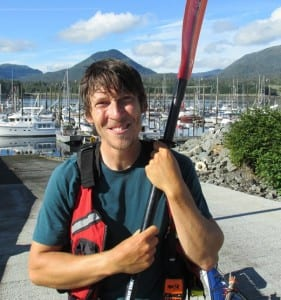 Zachary Brown stopped in Ketchikan during his walk/kayak trip from California to Gustavus.