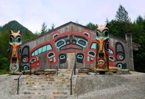 The Saxman Clan House.