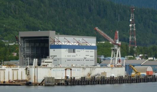 Ketchikan's shipyard is seen in 2012. (Photo by Ed Schoenfeld)