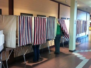 Ketchikan voters cast their ballots at The Plaza mall precinct.