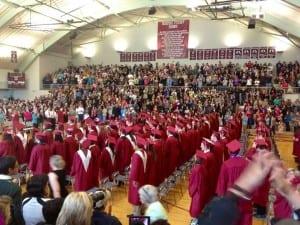 The Ketchikan High School Class of 2014. (KRBD file photo)