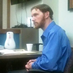 John Mathis Jr. listens to court proceedings in his trial Tuesday. (Photo by Madelyn Beck)