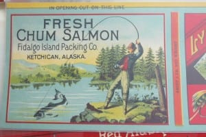 Image from a Lynx Brand canned salmon label