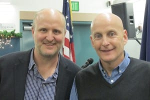 Ken Alper (left) and Representative Dan Ortiz