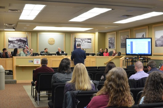 Ketchikan School Board meets at the White Cliff Building on February 10, 2016.