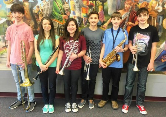 From left are Connor Wodehouse, Andrea Short, Katelin Kalbaugh, Charlie Blair, Henry Clark, and Tristan Dahl. (Photo courtesy Karen Pitcher)