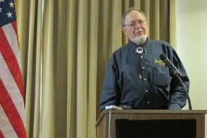 Alaska Rep. Don Young speaks during a special Ketchikan Chamber of Commerce lunch on Friday. (Photo by Leila Kheiry)