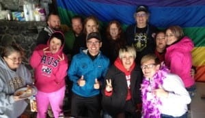 Some of the people attending Ketchikan's 3rd annual Pride Picnic.