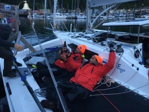 Team Alula arrived in Ketchikan this week. They were officially disqualified, but still finished the 750-mile Race to Alaska. (R2AK photo)