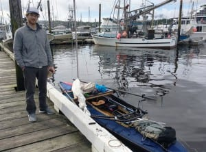 John Taussig kayaked to Ketchikan from Bellingham, Wash., to raise awareness and funds for multiple myeloma. (Photo by Leila Kheiry.