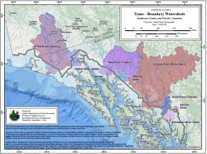 Eight transboundary watersheds feed Southeast Alaska rivers. A new agreement with British Columbia aims to protect them from mining pollution. Critics say it doesn't do the job. (Map by Alaska Department of Natural Resources.)