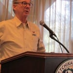 Doug Ward at the November 30th Ketchikan Chamber of Commerce luncheon.