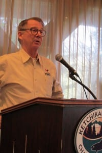 Doug Ward at the November 30th Ketchikan Chamber of Commerce luncheon.
