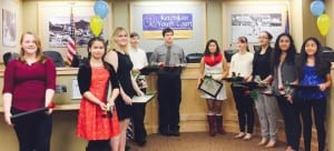 Thirteen new members were inducted into the Ketchikan Youth Court on Dec. 1. (Photo courtesy Glenn Brown, KYC executive director.)