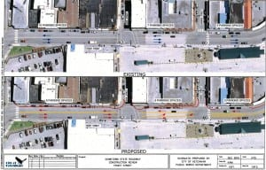 The Alaska Department of Transportation's proposed plan for Front Street. Click for a larger view.
