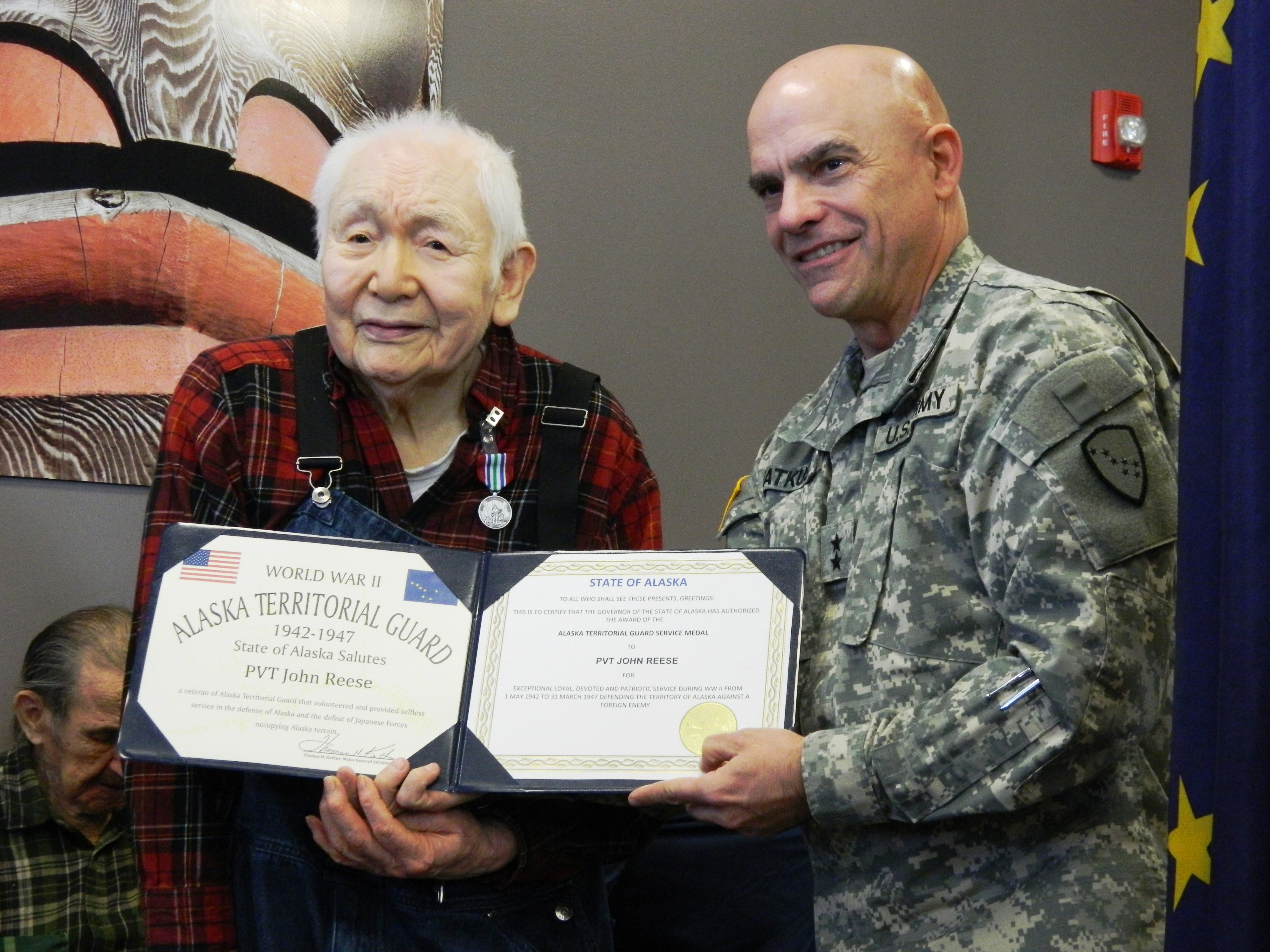 Us army honorable discharge certificate company chart template former alaska territorial guard members honored krbd johnreese former alaska territorial guard members honored us army honorable discharge certificate xflitez Choice Image
