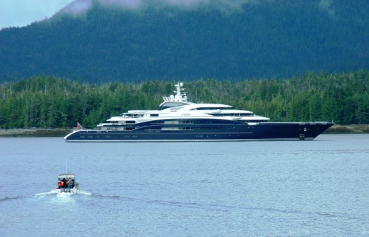 Super-sized yacht sails into Tongass Narrows