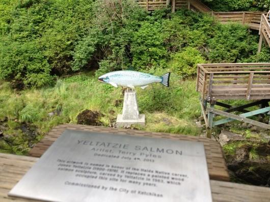 New salmon sculpture honors original artist