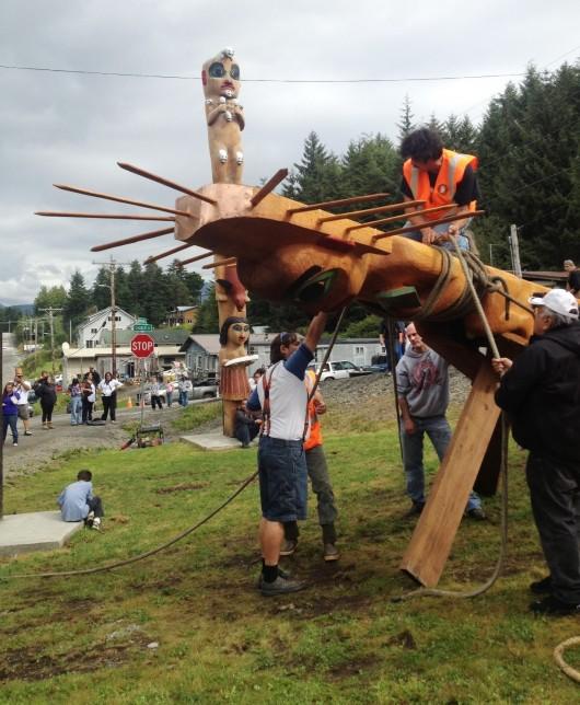 Klawock celebrates multi-pole totem raising