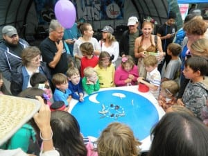 Last year's Blueberry Arts Festival slug race.