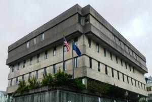 Ketchikan's state courthouse in downtown.
