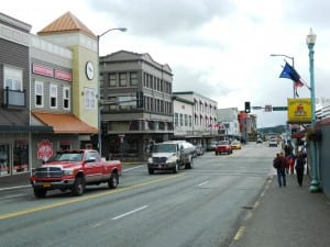 Front Street in downtown Ketchikan. (KRBD file photo)
