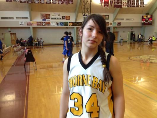 Thorne Bay girl plays on boys basketball team