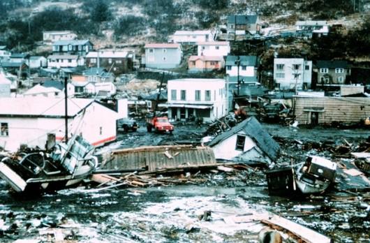 Bullock family in Kodiak for 1964 earthquake