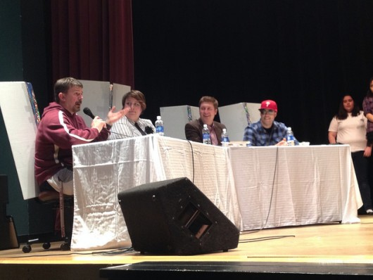 Teachers Eric Stockhausen, Terri Whyte, Michael Cron, and detective Derek McGarrigan were the esteemed judges.