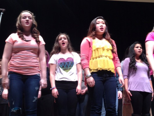 "A group of girls sing ""Jar of Hearts"" by Christina Perri."