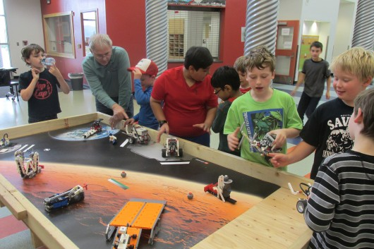 Paul Keeney, a teacher from Minnesota, led the Lego robotics camp. It's his third time in Ketchikan.