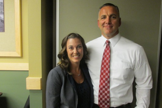 Shannon Sines is the new school district curriculum director, and James Sines is the new assistant principal at Houghtaling.
